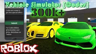 Codes for 300k+ Money | Roblox Vehicle SImulator [Beta]