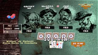 PC Game Walkthrough - GUN - Poker Tournament Round 1 and 2