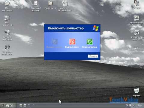 Раздел «Выключение» в Windows XP (39/47)