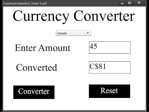 How to Create Currency Converter in Animate CC