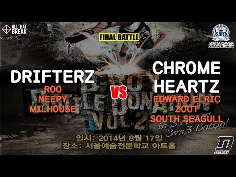 Drifterz v Chrome Heartz / Final / Bboy Battle Donation Vol.2 / Allthatbreak.com