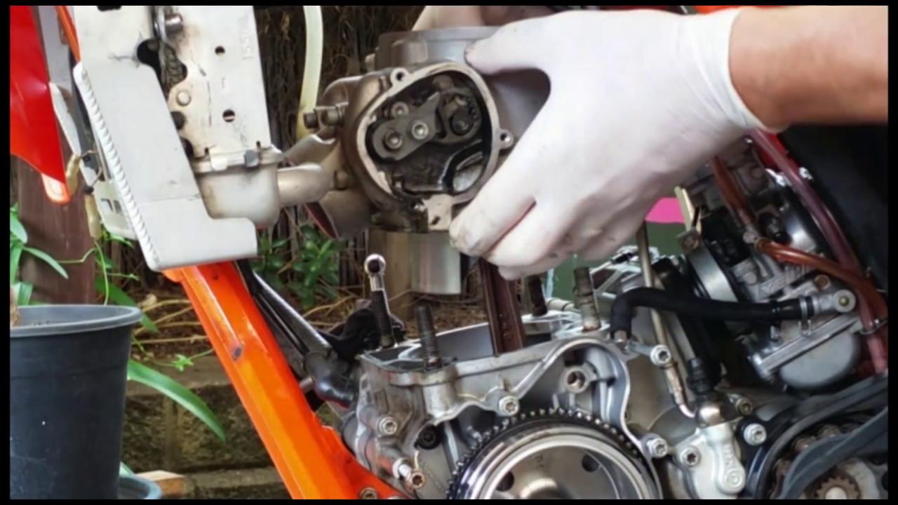 ktm 2 stroke 250/300 exc 2015/16 top end rebuild and starter motor