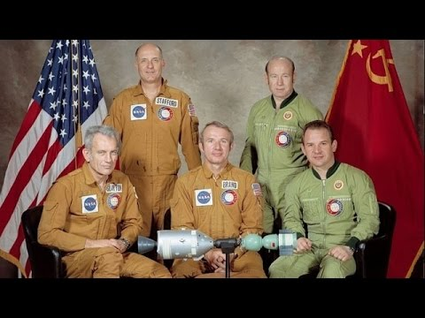 LIVE: Apollo-Soyuz astronauts commemorate 40th anniversary of mission launch - English audio