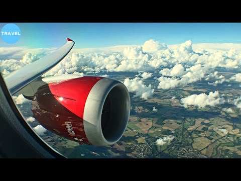 STUNNING RED ENGINE | Virgin Atlantic Boeing 787-9 Takeoff f