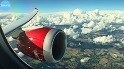 STUNNING RED ENGINE   Virgin Atlantic Boeing 787-9 Takeoff from London Heathrow!