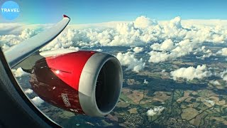 STUNNING RED ENGINE | Virgin Atlantic Boeing 787-9 Takeoff from London Heathrow!
