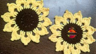 Beautiful Sunflower Coaster... #teacoaster #sunflower #homedecor #easy #quick #beginnersfriendly