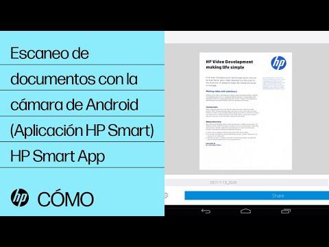 Escaneo de documentos con la cámara de Android (Aplicación HP Smart) | HP Smart App | HP