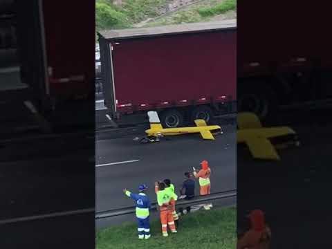 Vídeo mostra destroços de helicóptero que matou Ricardo Boechat