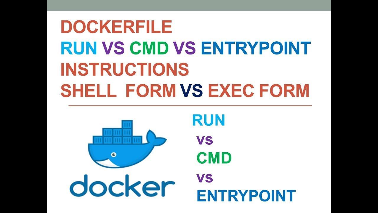 Docker | Dockerfile RUN vs CMD vs ENTRYPOINT hands-on | shell form vs exec  form | Docker tutorial