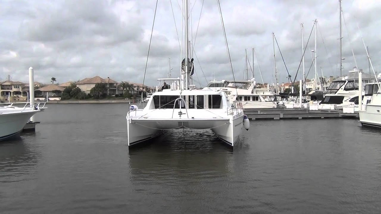 Sunsail 444 for sale - New Leopard 44 Catamaran Maneuvering In Breezy Tight Quarters