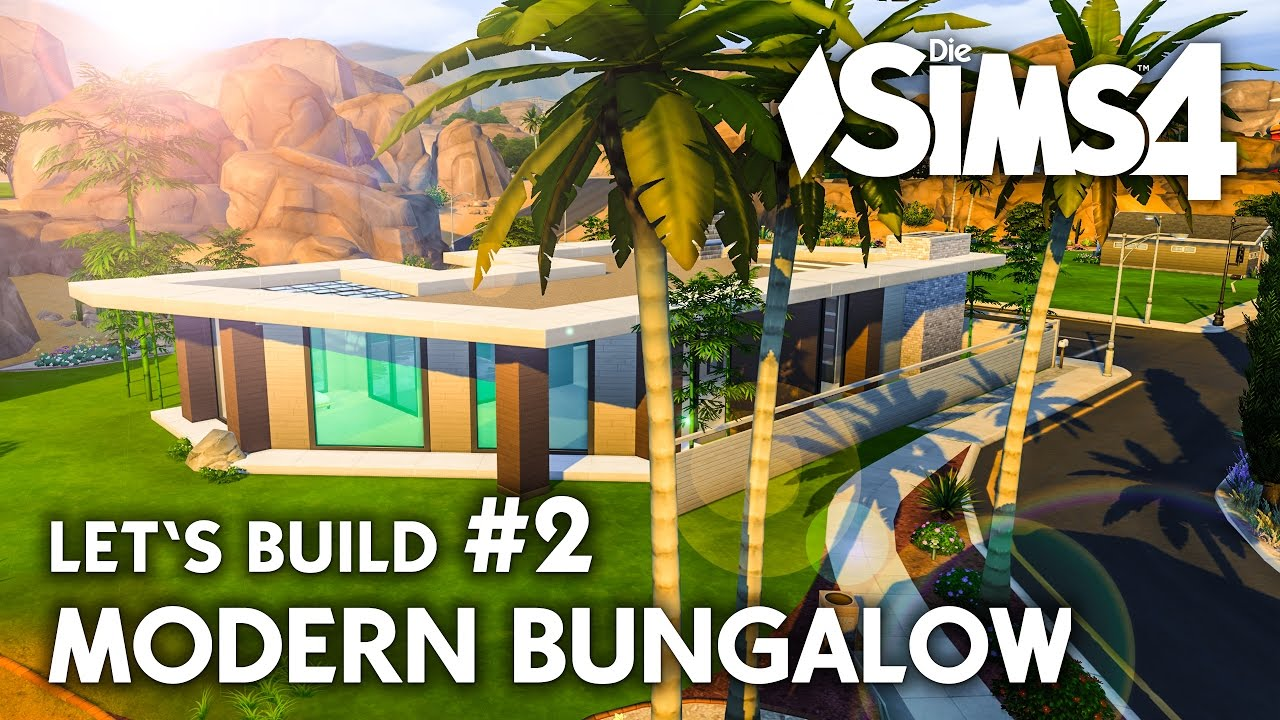 2 familien bungalow bauen Die Sims 4 Haus bauen  Modern Bungalow #2 - Let's Build (deutsch ...