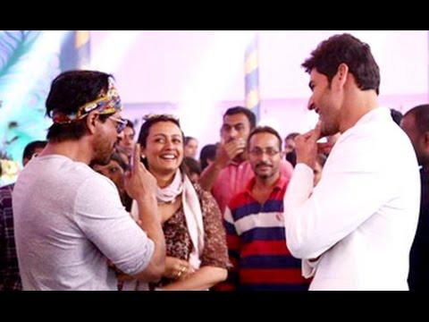 SRK Leaves 'Dilwale' Shoot To Meet Mahesh Babu | Brahmotsavam | Namrata Shirodkar, Sania Nehwal