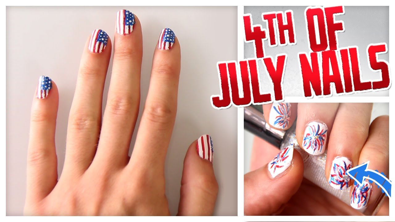 4th Of July Nail Art Flags Firecrackers More Do It Gurl