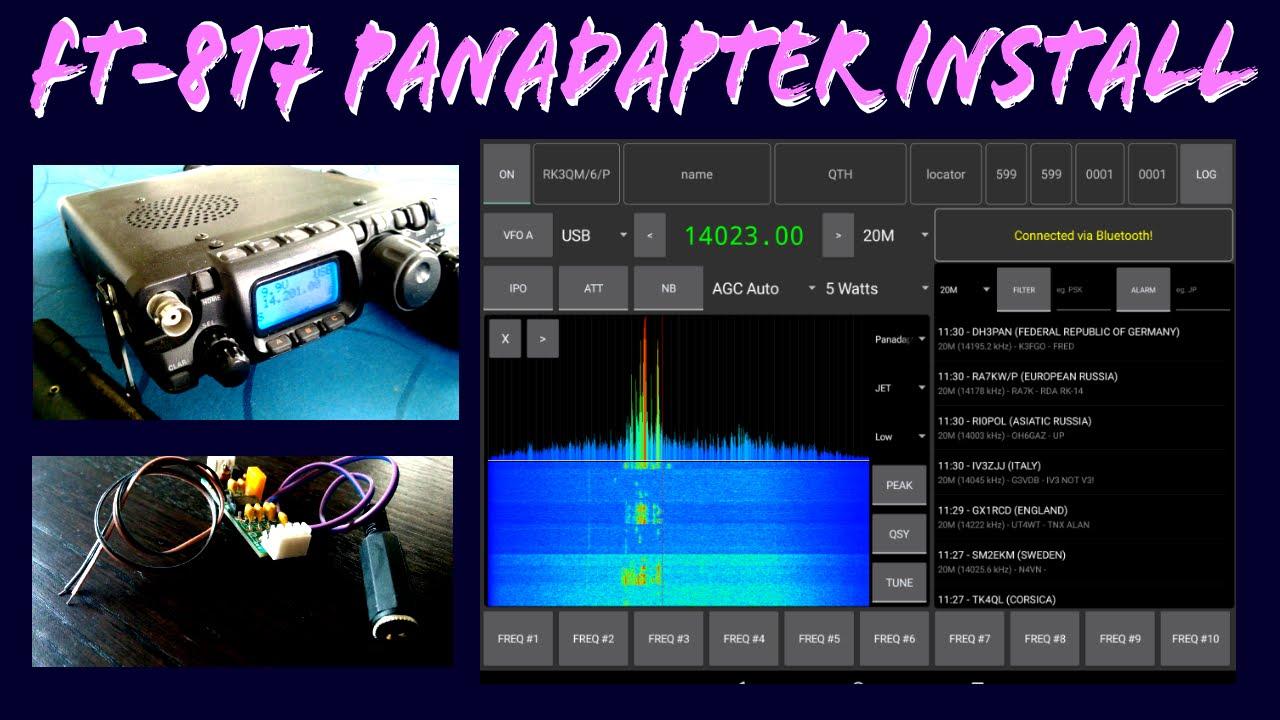 YAESU FT817 PANADAPTER Installation [817Companion]
