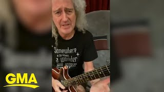 Queen guitarist Brian May plays an epic rendition of 'We Are The Champions' l GMA Digital