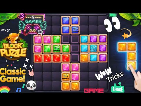 Block Puzzle Classic Game | How to play game on mobile | Best Game for kids | Android | Today Trends