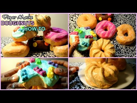 DIY Donuts : paper mache