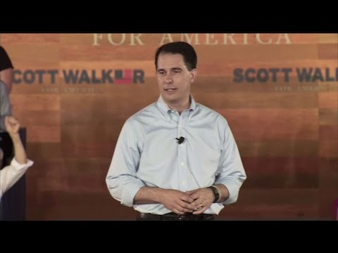 He's In: Scott Walker Makes 2016 Bid Official