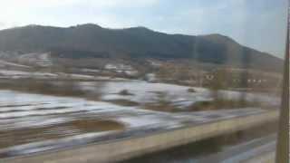 中国の高速鉄道の車窓(大連駅⇒瓦房店西駅 進行方向左側)
