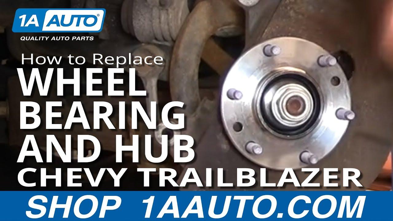 hight resolution of how to replace wheel bearing hub 02 09 chevy trailblazer