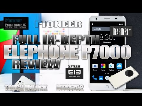"""Elephone P7000 Pioneer (In-depth Review) MTK6752 64-bit, 3GB, Touch ID, 5.5"""" FHD IPS Screen"""