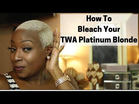 How To Dye Hair Platinum Blonde  BLEACHED TWA
