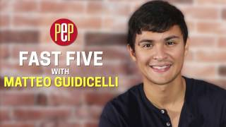 Matteo Guidicelli | What he said when he first met Sarah Geronimo | FAST FIVE | PEP