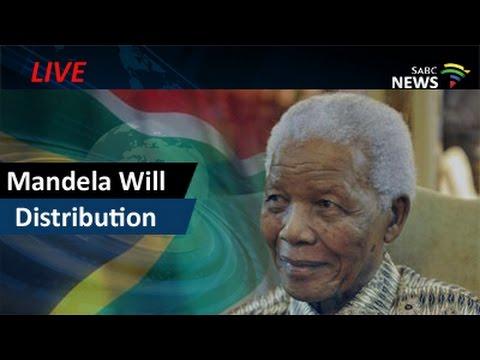 Distribution of Mandela Will: 27 May 2016