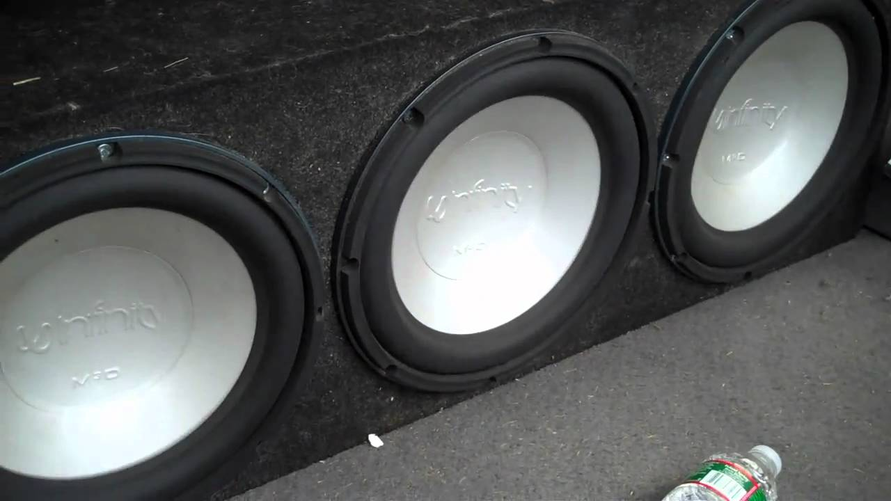 3x 12 Quot Infinity Dvq Kappa Perfect Subwoofers Flexin Youtube