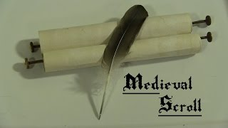 How to Make a Medieval Scroll