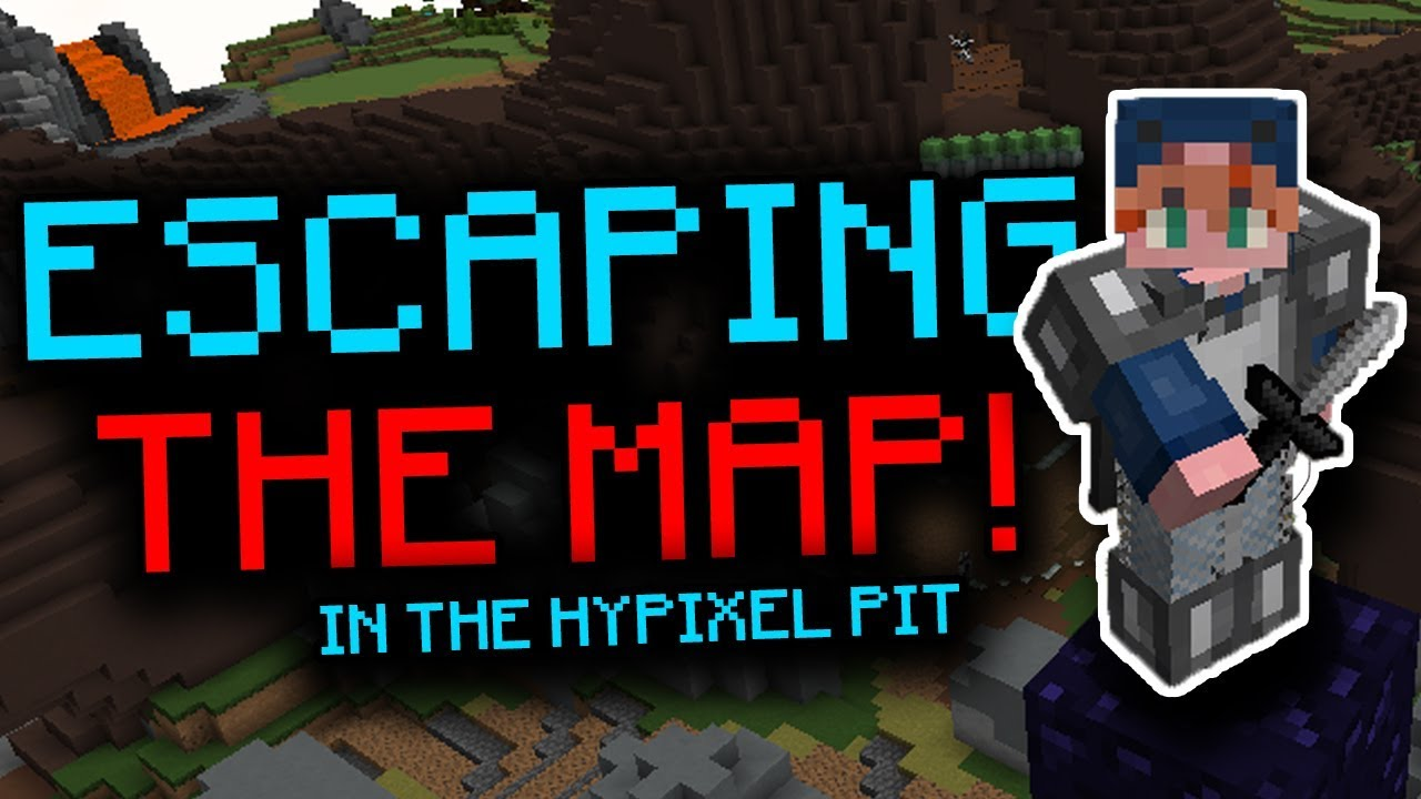 ESCAPING THE MAP IN THE PIT! - The Hypixel Pit