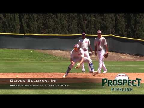 Oliver Sellman Prospect Video, Inf, Branson High School Class of 2019