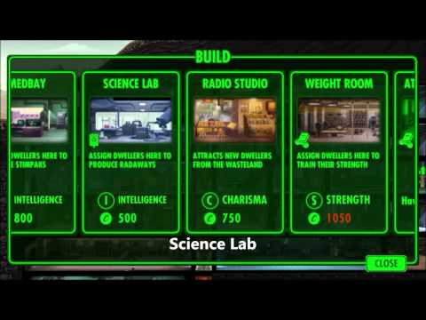 Fallout Shelter Room Guide - Part 1 - Access Rooms / Ressouce Production