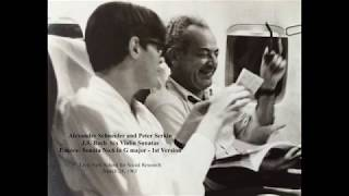 A. Schneider & P. Serkin: Bach Six Violin Sonatas, Live '63 (Score-Video)