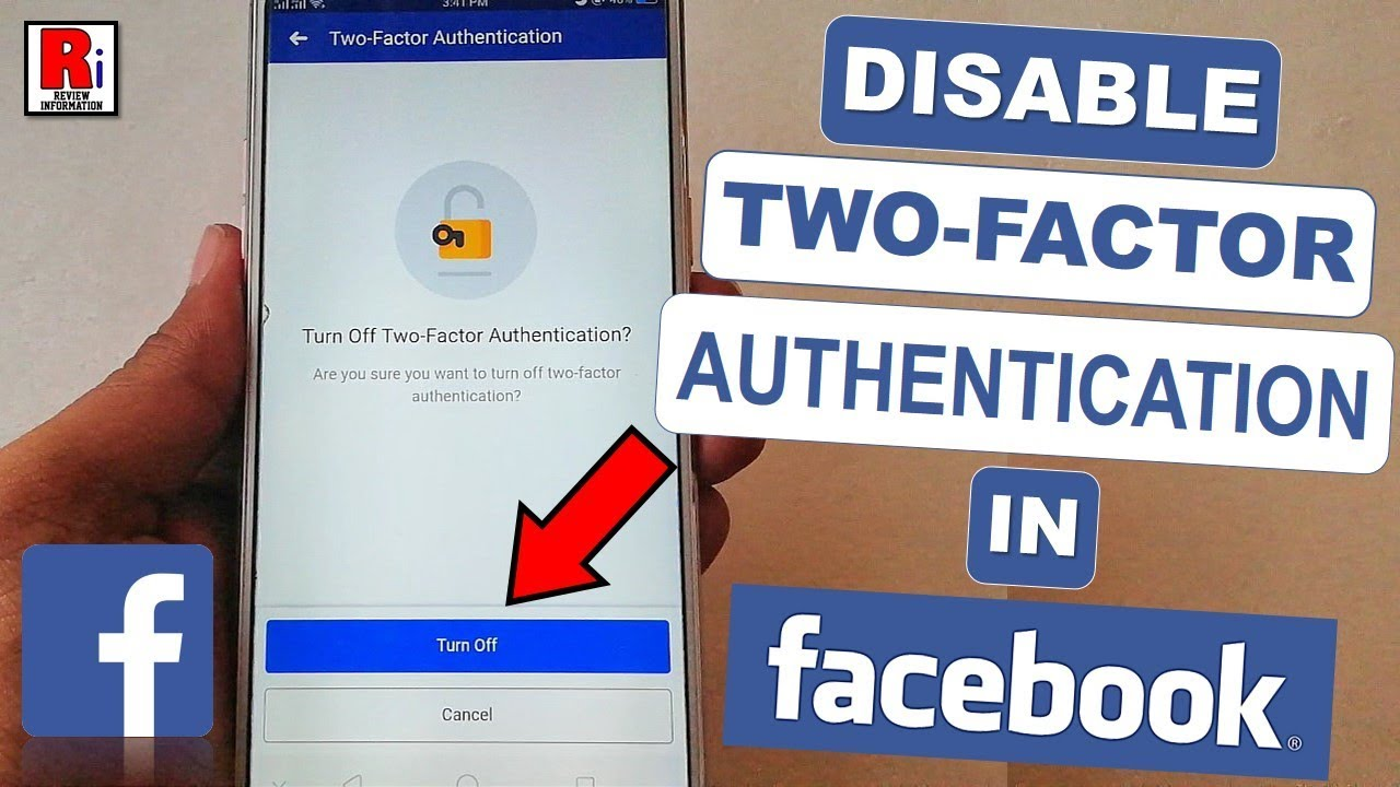 DISABLE TWO-FACTOR AUTHENTICATION IN FACEBOOK