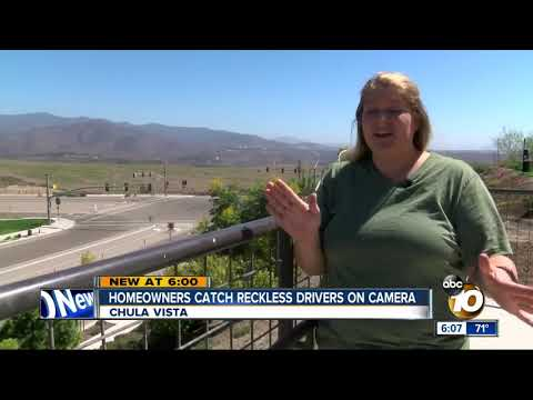Chula Vista homeowners catch reckless drivers on camera