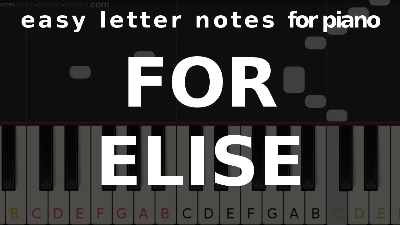 For Elise Easy Letter Notes Piano