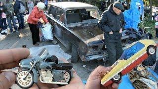 Купил МАШИНКУ СССР и советский мотоцикл ИЖ. Поход на барахолку (29.09.18г)