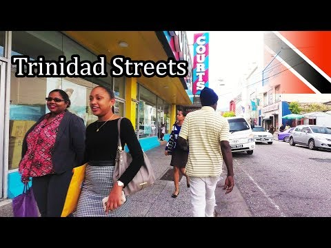 Walking TRINIDAD Streets  Capital Port of Spain 4K  Sept 2017