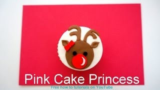 Rudolph Red Nose Reindeer Christmas Cupcake How To Tutorial