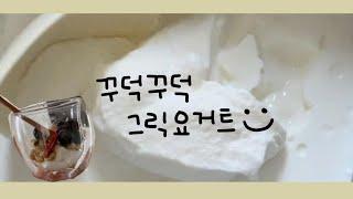[VLOG]꾸덕꾸덕한 그릭요거트로 변비탈출 프로젝트 /…