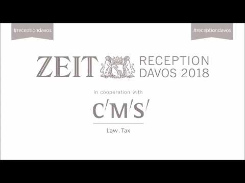 ZEIT RECEPTION Davos 2018 – Values Under Pressure: The Role of Ethics in Business