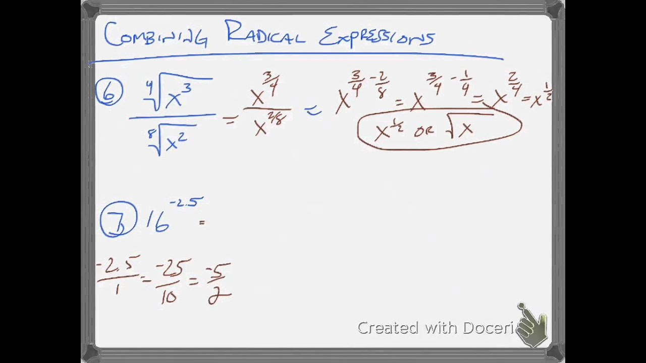 6 4 Rational Exponents Alg 2