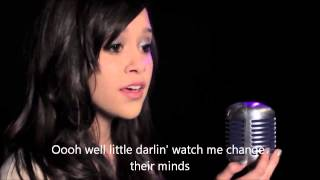 megan nicole - it will rain by bruno mars - cover paroles lyrics.