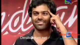 Telugu song in Indian Idol 5 .flv