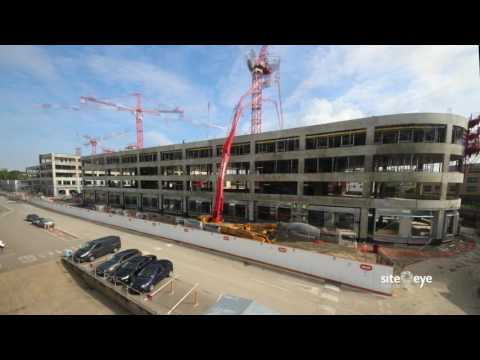 Cambridge Assessment Triangle Project - full building progress to date (May 2017)