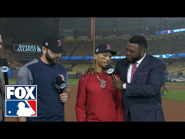 Mitch Moreland & Mookie Betts break down Boston's Game 4 comeback with FOX MLB crew | FOX MLB