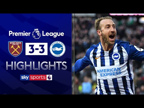 Brighton display stunning fightback | West Ham 3-3 Brighton | EPL Highlights