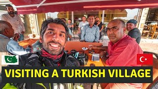 How Turkish Village People treat a Pakistani tourist Ep. 30|Motorcycle Tour From Germany to Pakistan
